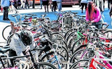 Los vitorianos denuncian en cinco años 4.000 robos de bicicletas, cada vez más de alta gama