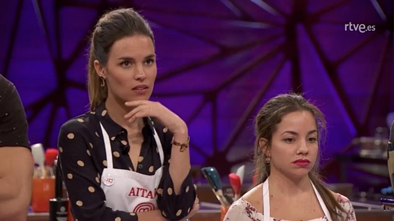 Aitana, la concursante vasca de Masterchef, se viste de tiros largos en la cocina