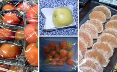 ¿Fruta pelada y envuelta en plástico? Ecologistas impulsan un boicot a los envases desechables de los alimentos