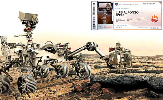 Tarjeta de embarque a Marte