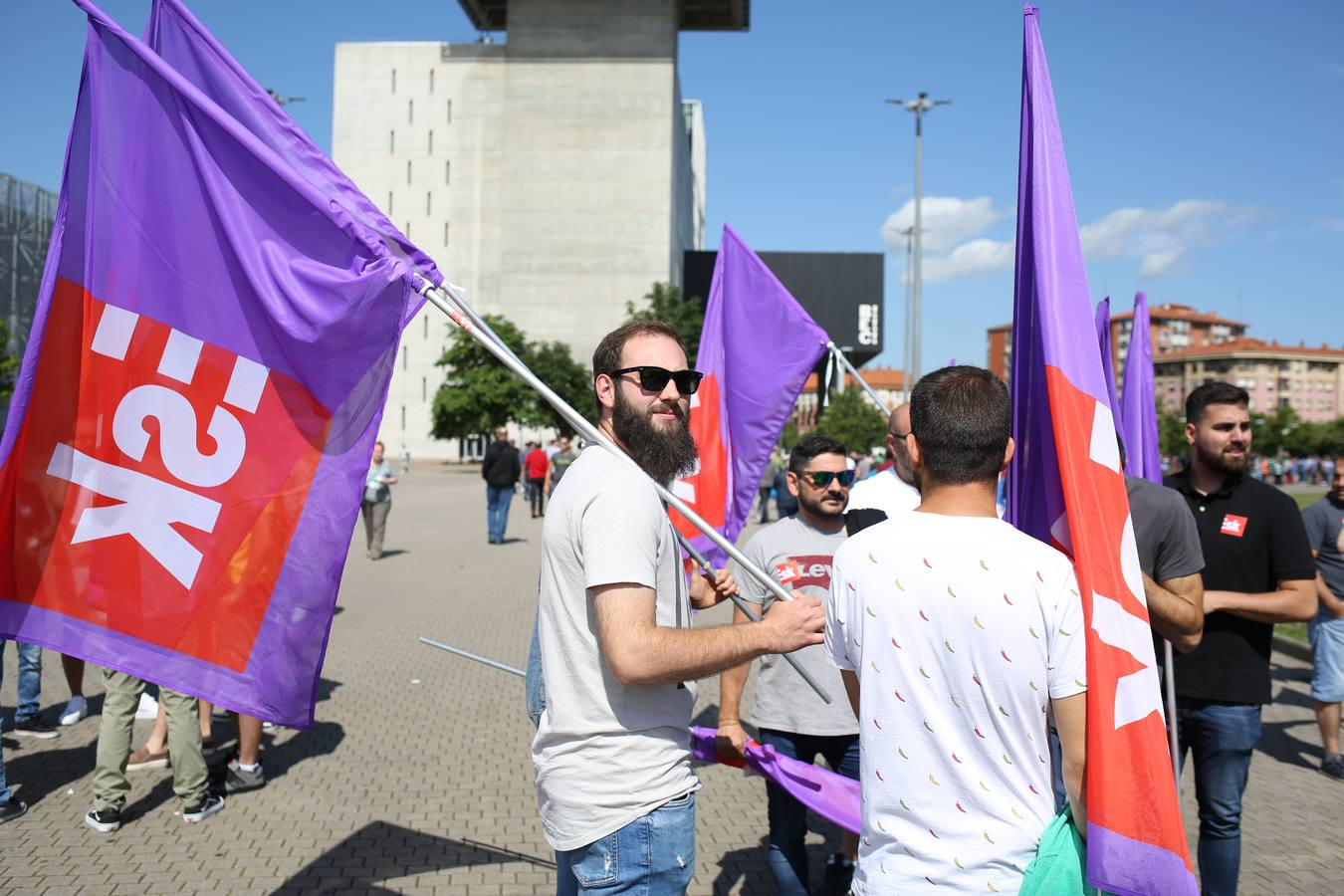 Segunda jornada de huelga en el metal de Bizkaia