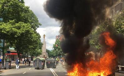 Los incidentes salpicaron la tercera jornada de huelga del metal vizcaíno