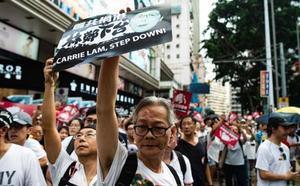 Una protesta histórica rechaza en Hong Kong la ley que abre la extradición a China