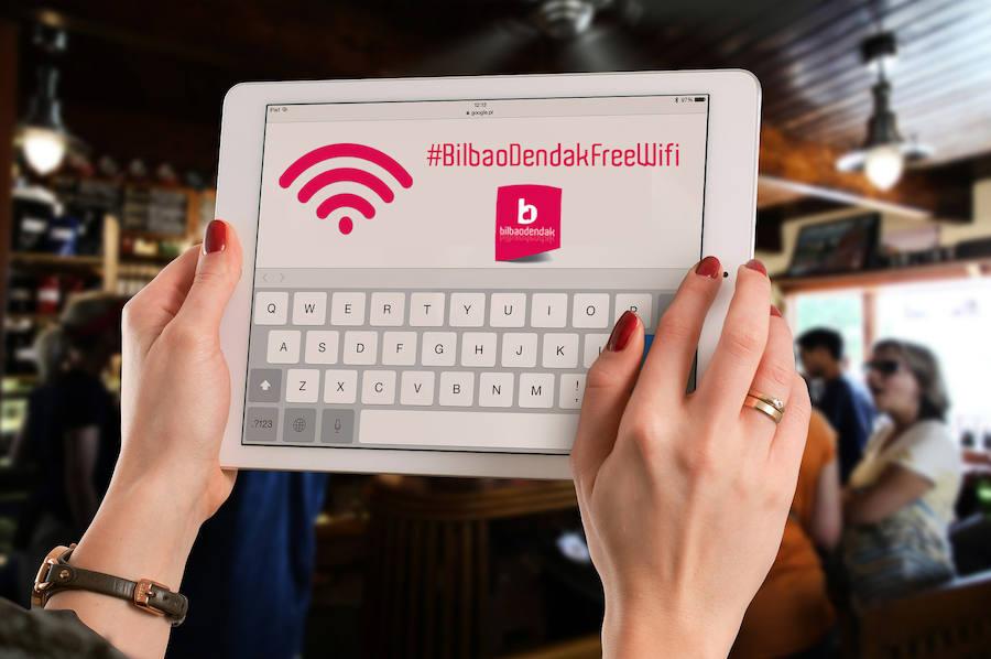 Wifi gratis, la última apuesta del pequeño comercio bilbaíno