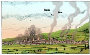 El bombardeo de Gernika, en viñetas