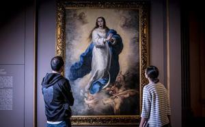 'La Inmaculada del Escorial' de Murillo se muda un mes a Vitoria