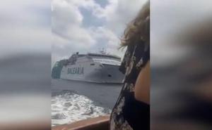 Un ferry y un navío turístico, a punto de chocar entre Ibiza y Formentera