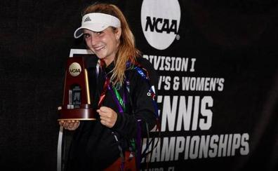 Pérez-Somarriba, la primera española en ganar un título universitario de tenis en EEUU