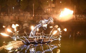 Bilbao, una ciudad de fuego y magia gracias a la Noche Blanca