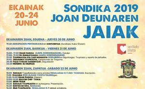 Programa de fiestas de Sondika 2019: Sondikako San Juan Jaiak