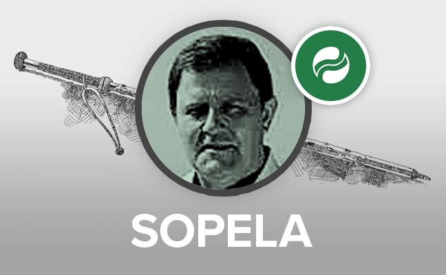 Josu Landaluze recoge «pletórico» la makila de Sopela con un tripartito