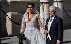 El esperado vestido de novia de Pilar Rubio, al detalle