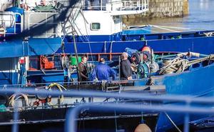 La flota sale a la pesca de patrones