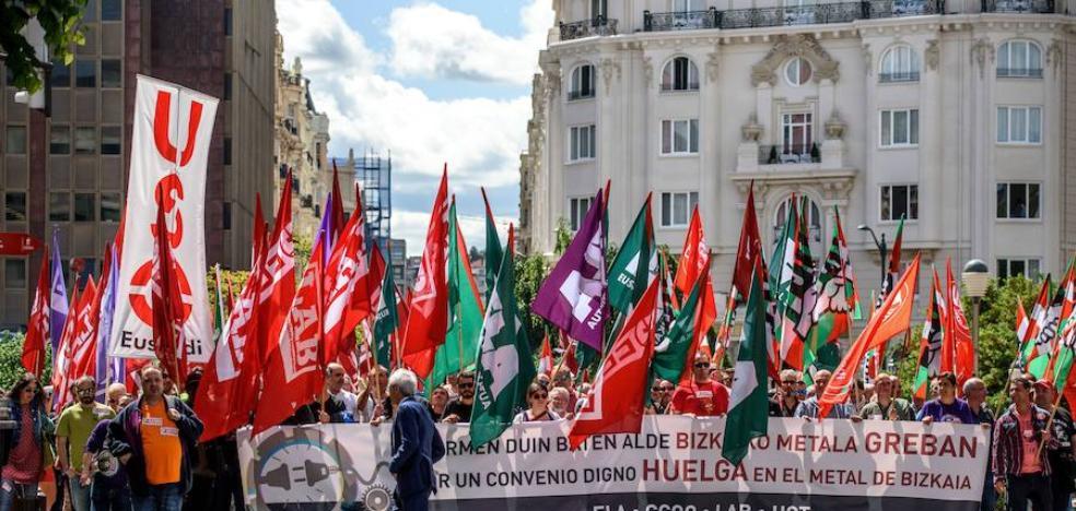Los sindicatos rechazan la nueva propuesta salarial del metal de Bizkaia y mantienen la huelga