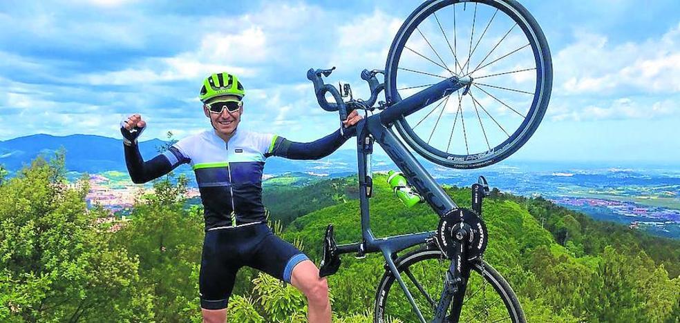 Igor Antón recorrerá los 405 kilómetros del perímetro de Bizkaia en un día