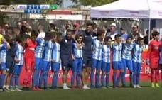 Unos niños del Málaga dan una lección de deportividad a sus padres