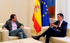 Sánchez e Iglesias se reúnen y confirman que sus posiciones están «muy alejadas»
