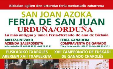 Programa de la feria de San Juan 2019 en Orduña