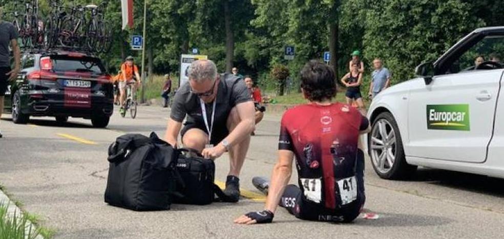 Geraint Thomas se cae y abandona la Vuelta a Suiza