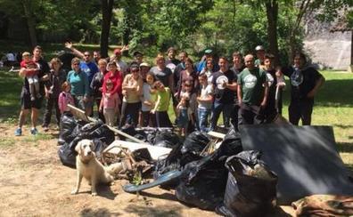Vecinos de Galdakao se vuelcan en la recuperación de la presa de Arantzille