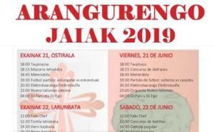 Programa de fiestas de Aranguren 2019 en Zalla