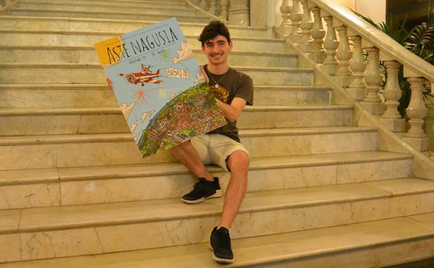 Mario Larrinaga, el autor del cartel ganador.