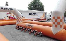 Las motos GP aparcan en Portugalete