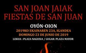 Programa de fiestas de Oyón 2019: San Joan Jaiak