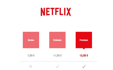 Subida de precio de Netflix: nuevas tarifas 2019 en España