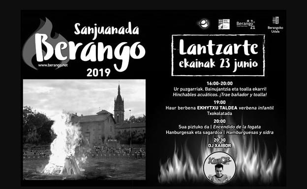 Programa de la Sanjuanada 2019 en Berango