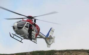 Evacuado en helicóptero un escalador accidentado en Egino