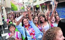 El más multitudinario inicio de las fiestas eibarresas