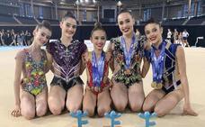 Las gimnastas Solaun y Gorospe triunfan en el Campeonato de España de rítmica