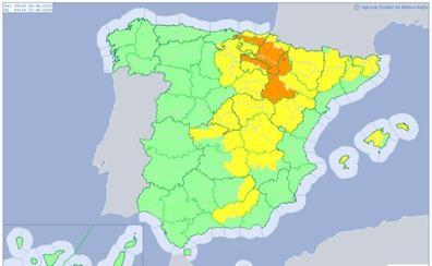 Mapa de la ola de calor que afectará a España en junio de 2019