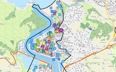 Un mapa interactivo engloba la oferta de ocio y servicios de Plentzia
