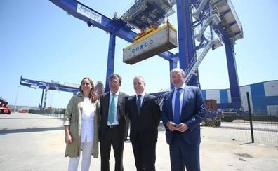 La ampliación de la terminal ferroviaria permitirá incrementar las mercancías del Puerto de Bilbao