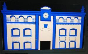 Gorliz ilumina la fachada del Ayuntamiento con motivo del centenario del hospital