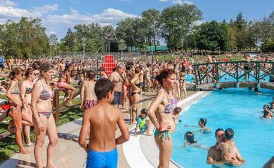 Récord ayer en las piscinas de Vitoria