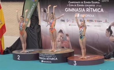 Las gimnastas Meana y Blanco, plata y bronce en el estatal por equipos