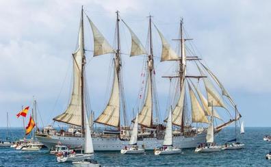 El 'Juan Sebastián Elcano' agitará la costa vasca antes de abrir al público en Getxo