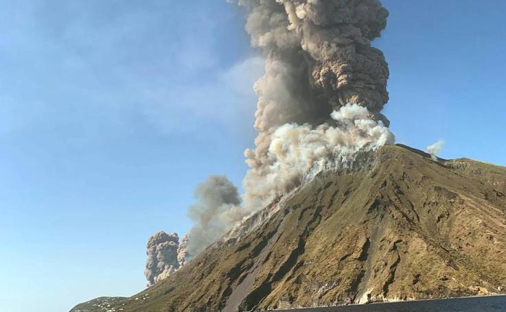 El volcán Stromboli entra en erupción