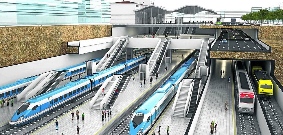 El estudio del soterramiento del tren en Vitoria eleva su coste a 872,2 millones de euros