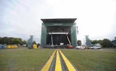 Así es el montaje del escenario del BBK Live