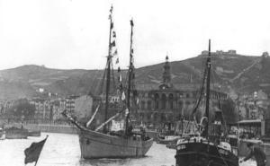 'Magdalena', el último gran barco botado en Plentzia