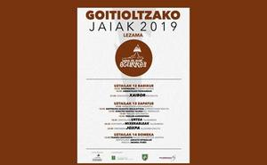 Programa de fiestas de Lezama 2019: Goitioltzako Jaiak
