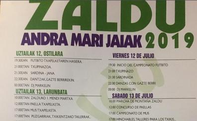 Programa de fiestas de Gordexola 2019: Zaldu Andra Mari Jaiak