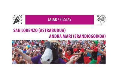 Programa de fiestas de Erandio 2019: Astrabudua y Erandiogoikoa Jaiak