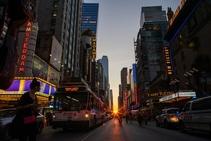 Manhattanhenge, la magia de la luz en Manhattan