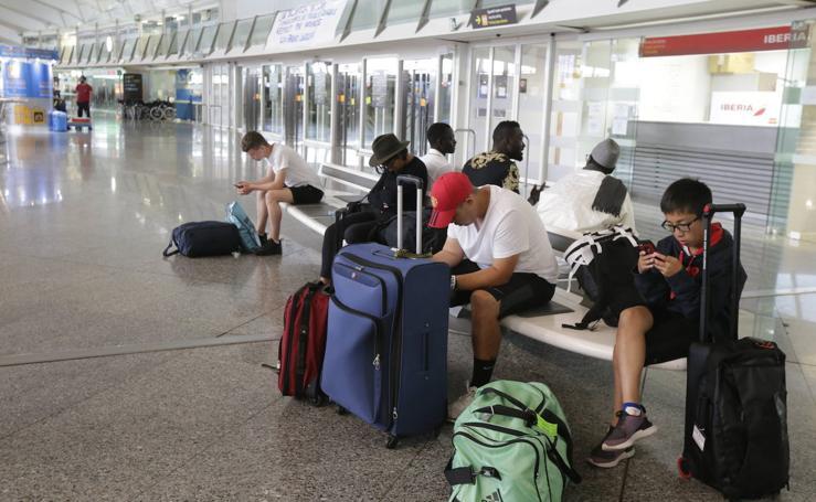 Las imágenes del aeropuerto en la jornada de huelga