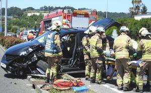 Cinco heridos en dos accidentes en Ugao y Erandio
